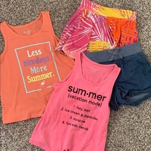 Summer set!  Tanks and bottoms